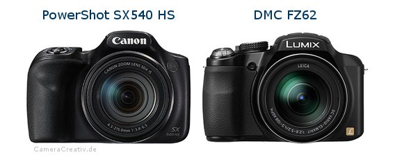 Canon powershot sx540 hs vs Panasonic dmc fz 62