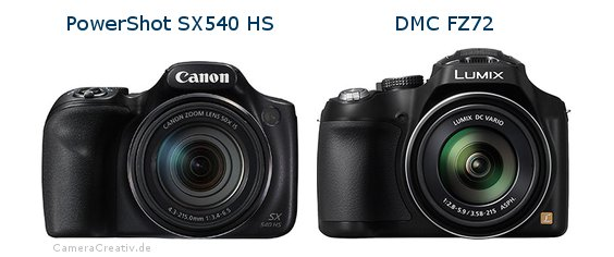 Canon powershot sx540 hs vs Panasonic dmc fz 72