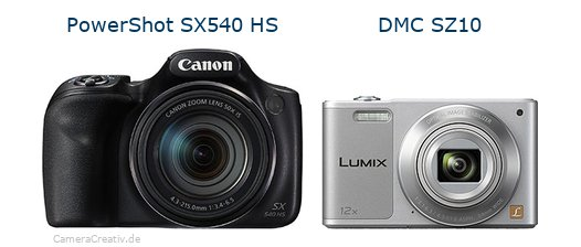 Canon powershot sx540 hs vs Panasonic dmc sz 10