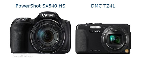 Canon powershot sx540 hs vs Panasonic dmc tz 41