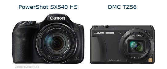 Canon powershot sx540 hs vs Panasonic dmc tz 56