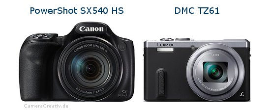 Canon powershot sx540 hs vs Panasonic dmc tz 61