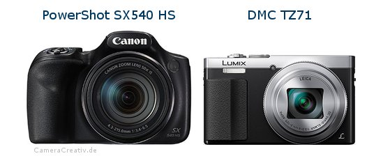 Canon powershot sx540 hs vs Panasonic dmc tz 71