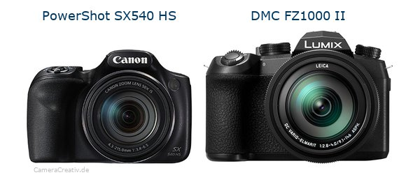 Canon powershot sx540 hs vs Panasonic lumix fz1000 ii