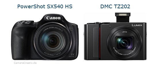 Canon powershot sx540 hs vs Panasonic lumix tz 202