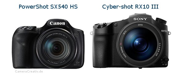 Canon powershot sx540 hs oder Sony cyber shot rx10 iii