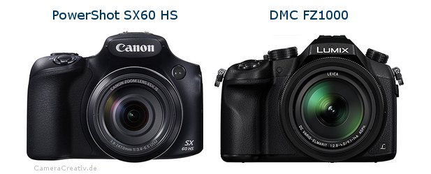 Canon powershot sx60 hs vs Panasonic dmc fz 1000