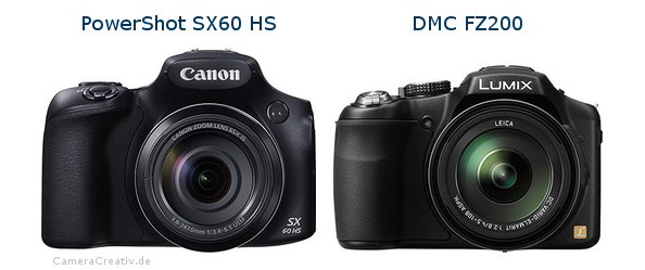 Canon powershot sx60 hs vs Panasonic dmc fz 200