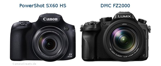 Canon powershot sx60 hs vs Panasonic dmc fz 2000