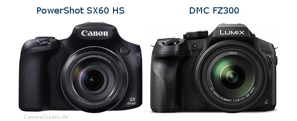 Canon powershot sx60 hs vs Panasonic dmc fz 300