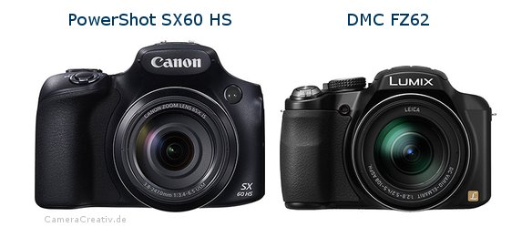 Canon powershot sx60 hs vs Panasonic dmc fz 62