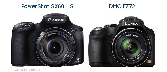 Canon powershot sx60 hs vs Panasonic dmc fz 72
