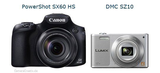 Canon powershot sx60 hs vs Panasonic dmc sz 10