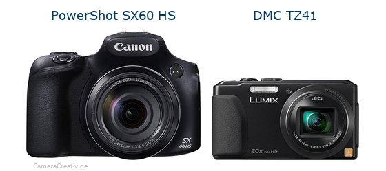 Canon powershot sx60 hs vs Panasonic dmc tz 41