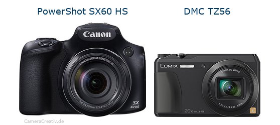 Canon powershot sx60 hs vs Panasonic dmc tz 56