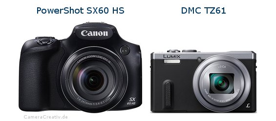 Canon powershot sx60 hs vs Panasonic dmc tz 61