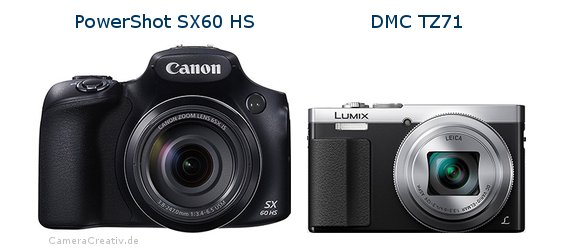 Canon powershot sx60 hs vs Panasonic dmc tz 71