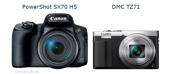 Canon powershot sx70 hs vs Panasonic dmc tz 71
