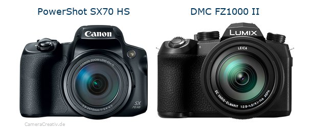 Canon powershot sx70 hs vs Panasonic lumix fz1000 ii