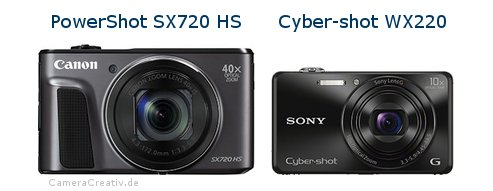 Canon powershot sx720 hs oder Sony cyber shot wx220