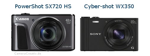 Canon powershot sx720 hs oder Sony cyber shot wx350