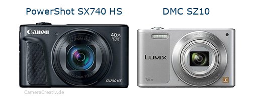 Canon powershot sx740 hs vs Panasonic dmc sz 10