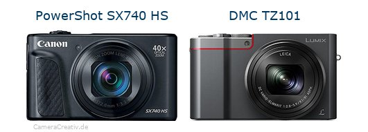 Canon powershot sx740 hs vs Panasonic dmc tz 101