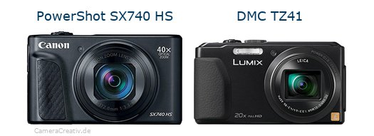 Canon powershot sx740 hs vs Panasonic dmc tz 41