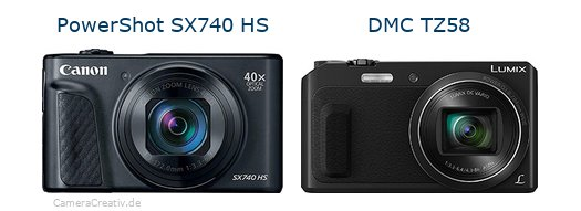 Canon powershot sx740 hs vs Panasonic dmc tz 58