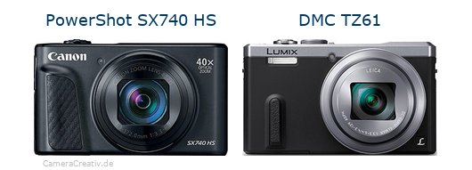 Canon powershot sx740 hs vs Panasonic dmc tz 61