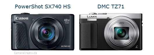 Canon powershot sx740 hs vs Panasonic dmc tz 71