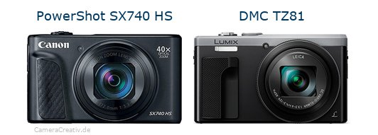 Canon powershot sx740 hs vs Panasonic dmc tz 81