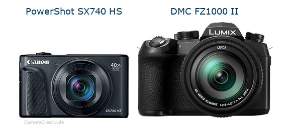 Canon powershot sx740 hs vs Panasonic lumix fz1000 ii
