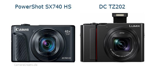Canon powershot sx740 hs vs Panasonic lumix tz 202