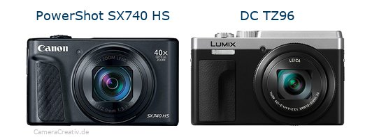 Canon powershot sx740 hs vs Panasonic lumix tz 96