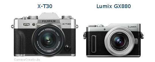 X-T30 vs Lumix GX880 - Side by side