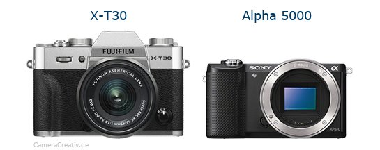 Fujifilm x t30 vs Sony alpha 5000