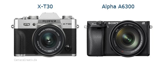 Fujifilm x t30 vs Sony alpha 6300