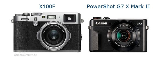 Fujifilm x100f vs Canon powershot g7 x mark ii