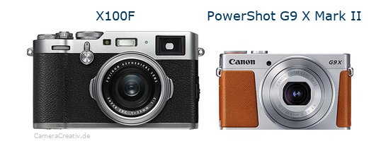 Fujifilm x100f vs Canon powershot g9 x mark ii