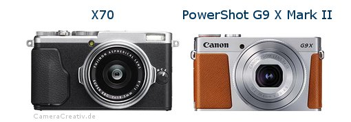 Fujifilm x70 vs Canon powershot g9 x mark ii