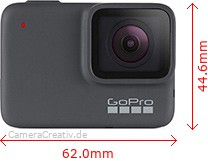 GoPro Hero 7 Silver Dimensions (Width / Height)