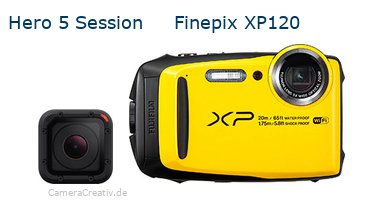 Digitalkamera Vergleich: Gopro hero 5 session oder Fujifilm finepix xp120