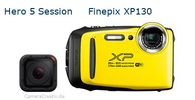 Digitalkamera Vergleich: Gopro hero 5 session oder Fujifilm finepix xp130