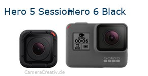 Digitalkamera Vergleich: Gopro hero 5 session oder Gopro hero 6