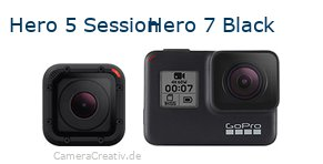 Digitalkamera Vergleich: Gopro hero 5 session oder Gopro hero 7 black