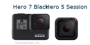 Digitalkamera Vergleich: Gopro hero 7 black oder Gopro hero 5 session