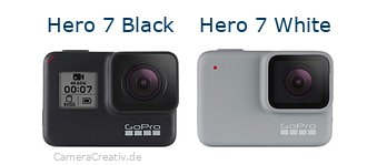 Digitalkamera Vergleich: Gopro hero 7 black oder Gopro hero 7 white