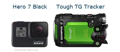 Digitalkamera Vergleich: Gopro hero 7 black oder Olympus tough tg tracker