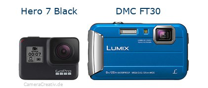 Digitalkamera Vergleich: Gopro hero 7 black oder Panasonic dmc ft30